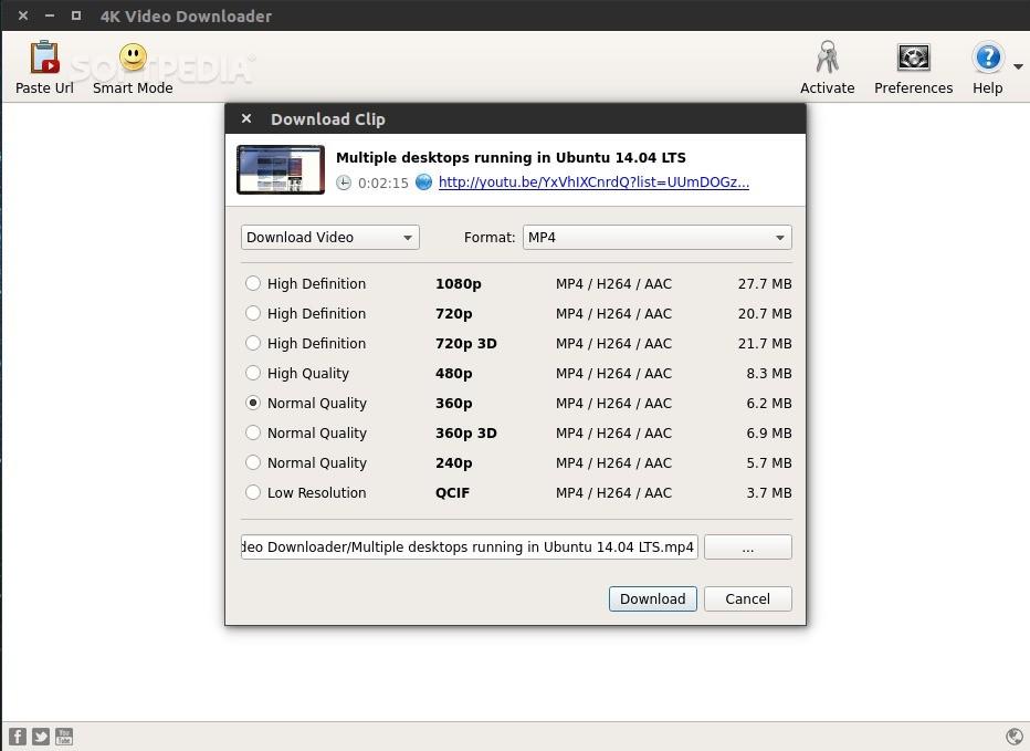 activate 4k video downloader ubuntu