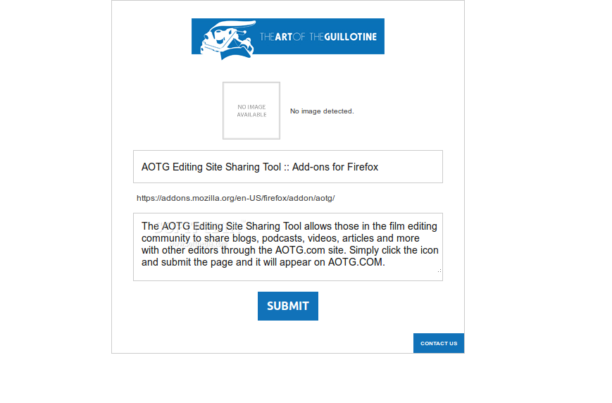 AOTG Editing Site Sharing Tool screenshot 2