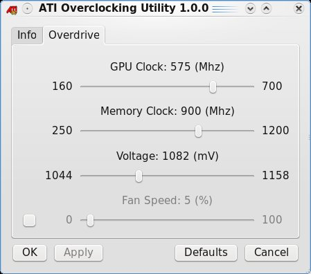 ATI Overclocking Utility X64 screenshot 1