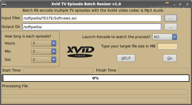 AVI TV Episode File Resizer screenshot 1