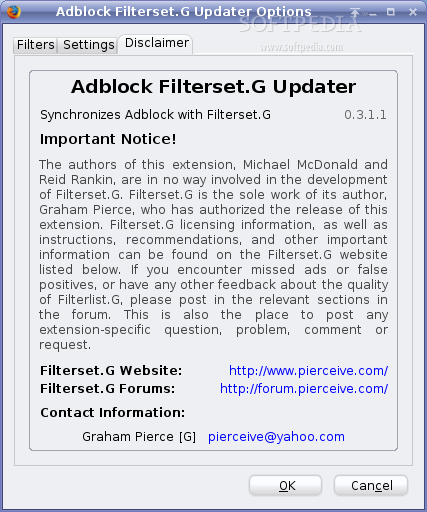 Adblock Filterset.G Updater screenshot 1