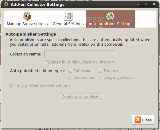 Add-on Collector for SeaMonkey screenshot 2