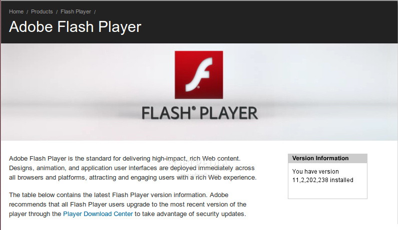adobe flash drive update