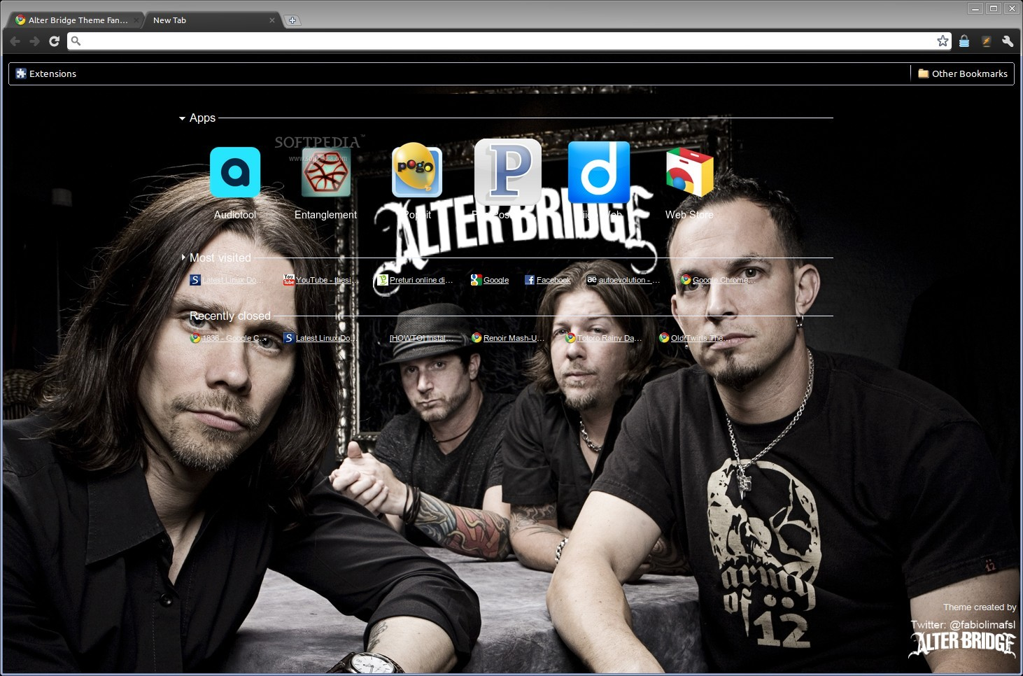 Alter Bridge Theme Fan Brazil screenshot 1