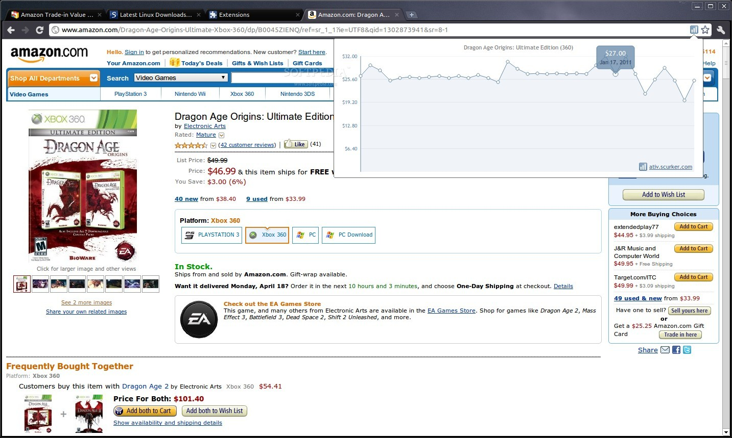 Amazon Trade-in Value History screenshot 1