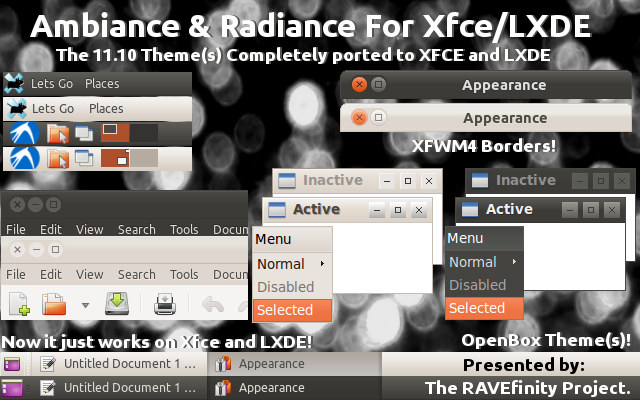 Download Ambiance & Radiance Themes for Xfce+LXDE Linux 12 04