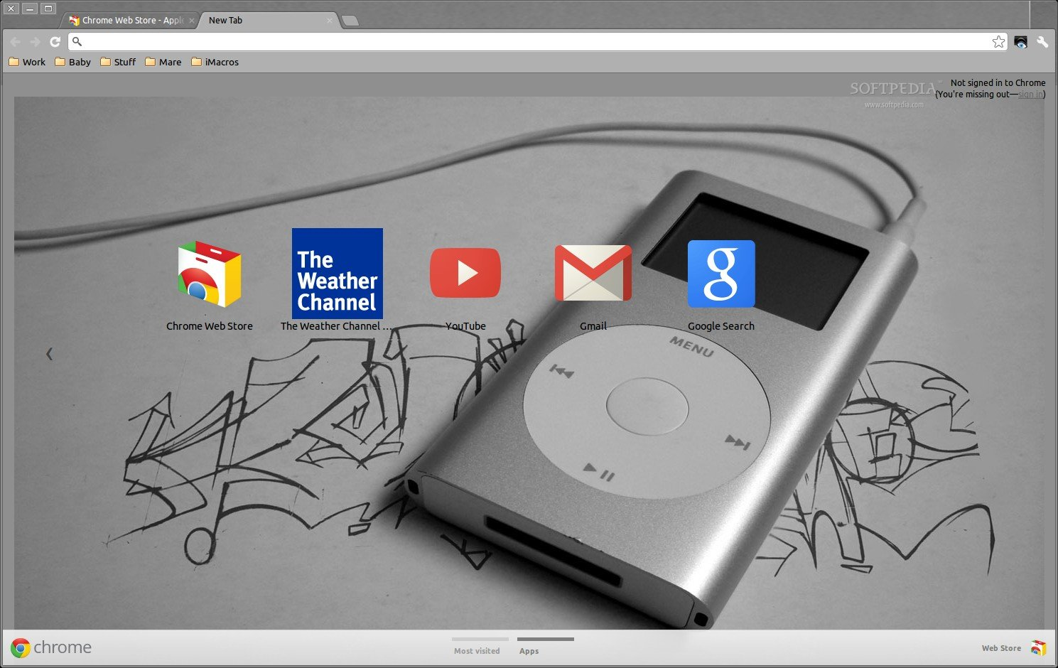 Apple Ipod Graffiti Theme screenshot 1