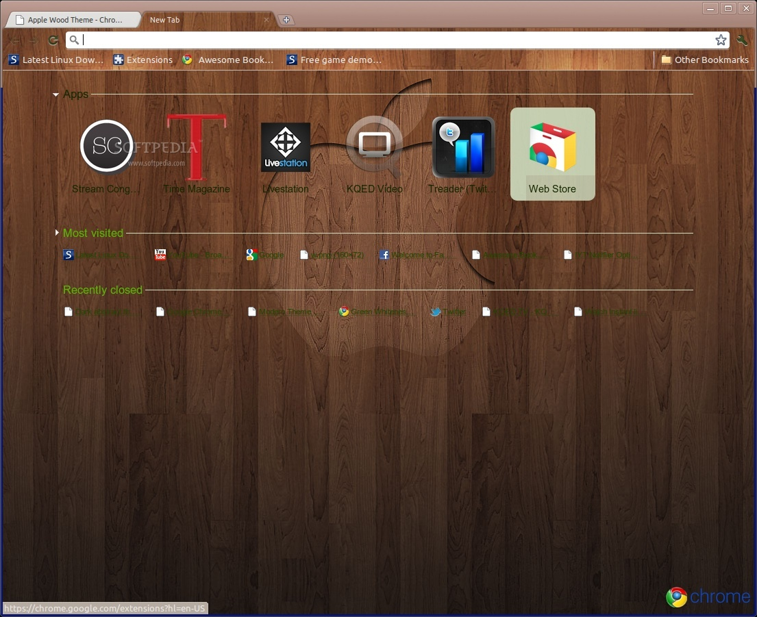 Apple Wood Theme screenshot 1
