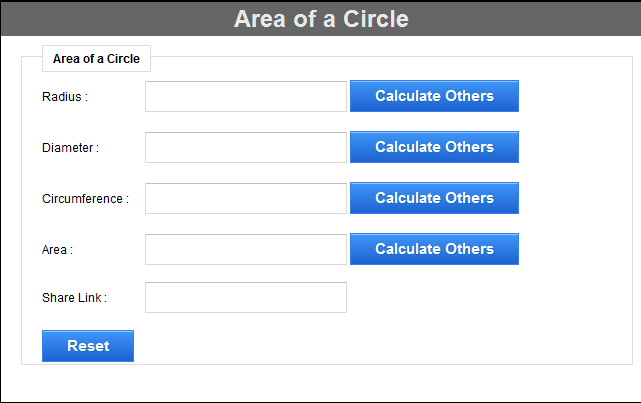 Area of a Circle for Opera screenshot 4