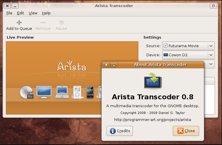 Arista screenshot 1