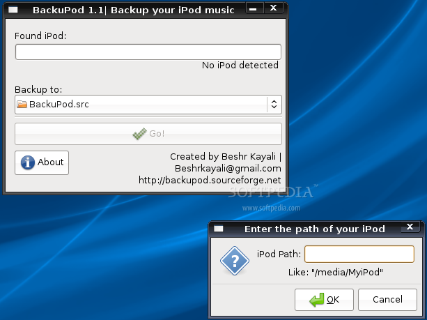 BackuPod screenshot 1