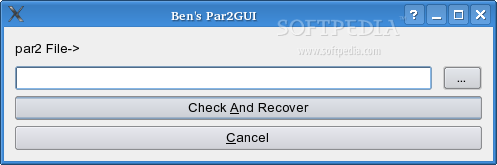 Ben's Par2GUI screenshot 1