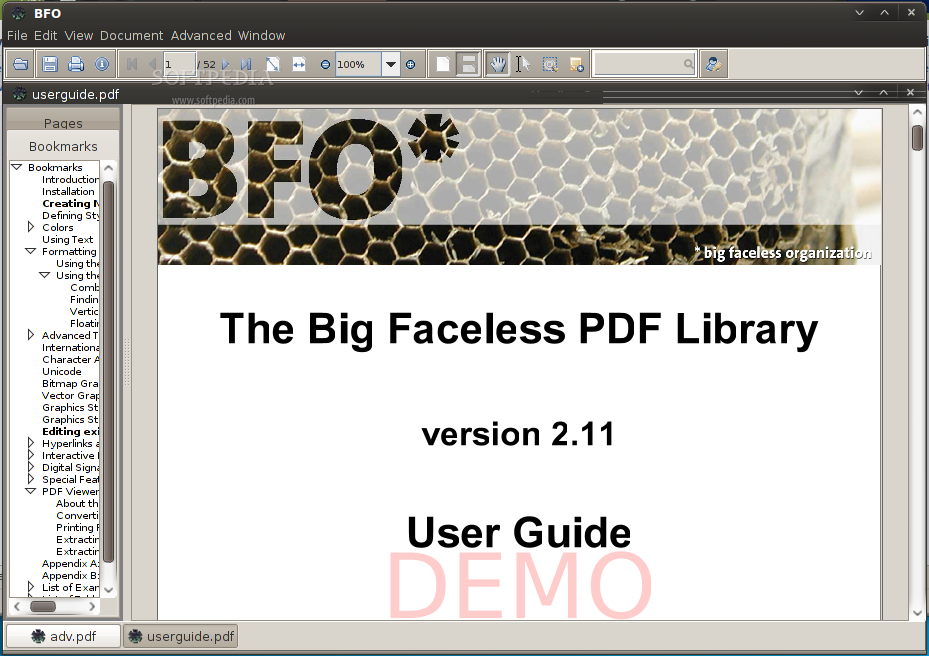 Big Faceless Java PDF Viewer screenshot 1