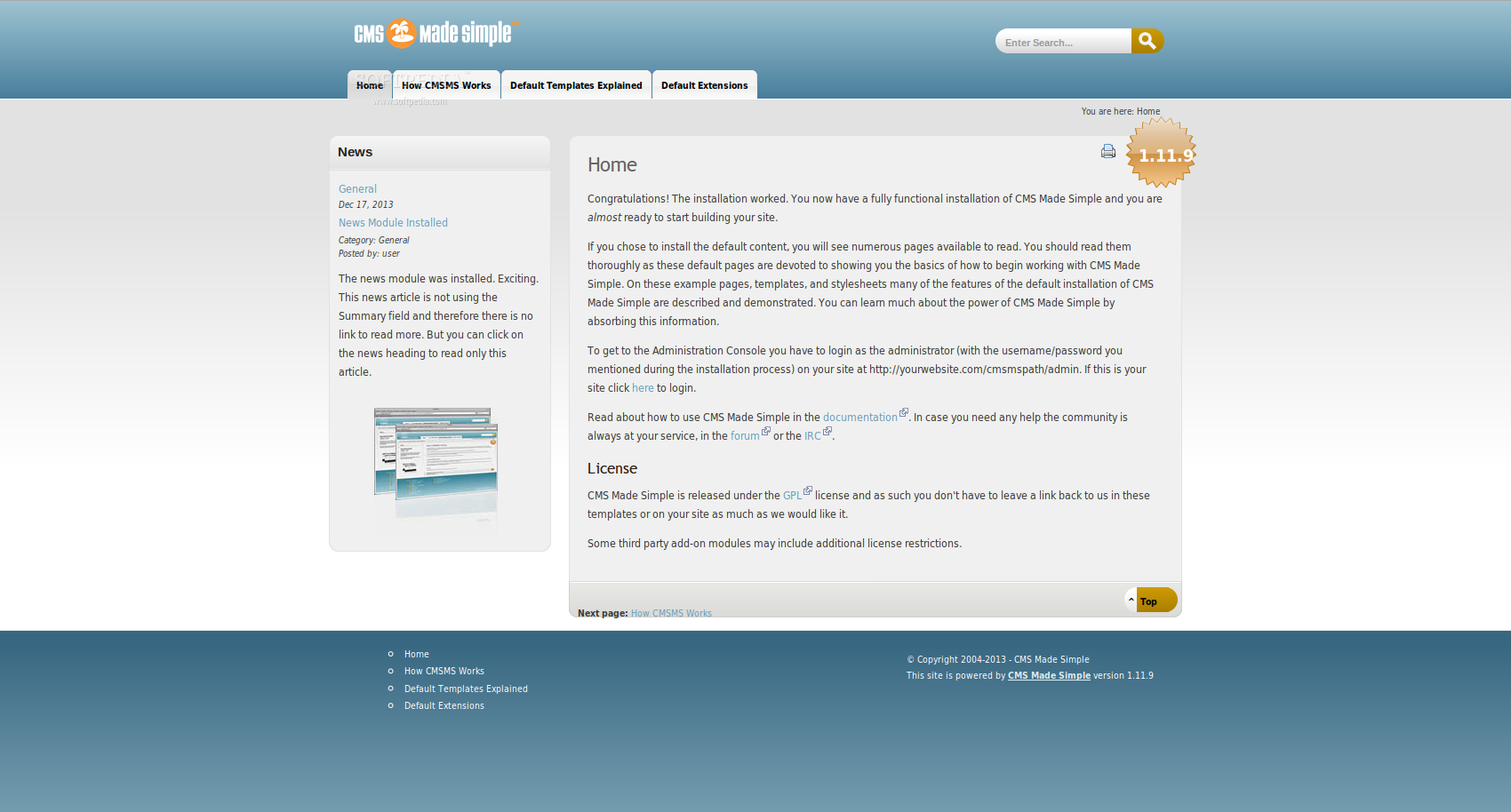 Download Bitnami CMS Made Simple Module Linux 2 2 10-7
