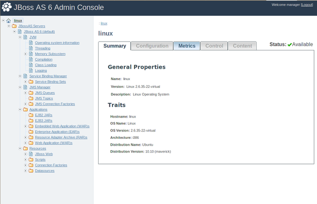 BitNami JBoss Stack screenshot 3