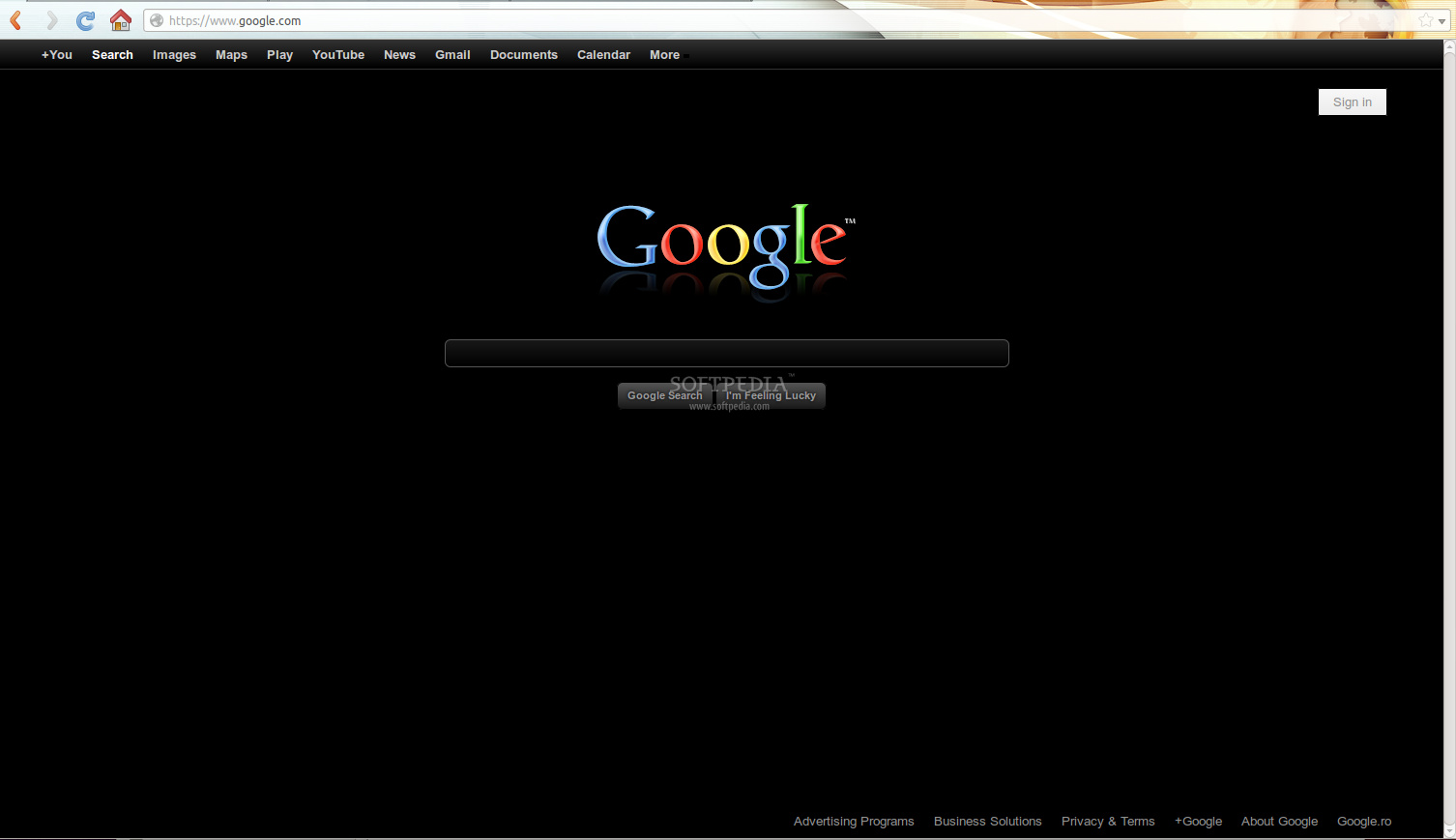 Black Google Theme screenshot 1