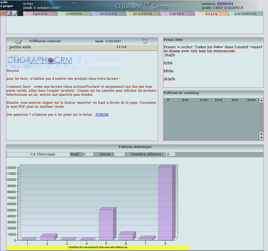 CLIGRAPHCRM screenshot 1