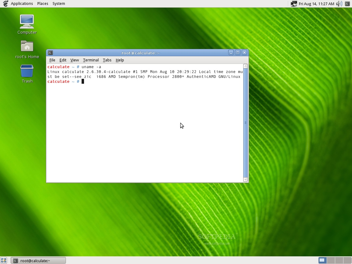 Calculate Linux Scratch screenshot 2