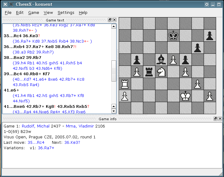 ChessX screenshot 1