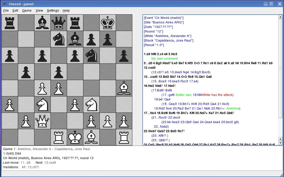 ChessX screenshot 2