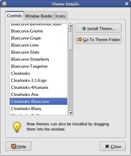 Clearlooks-Bluecurve screenshot 1
