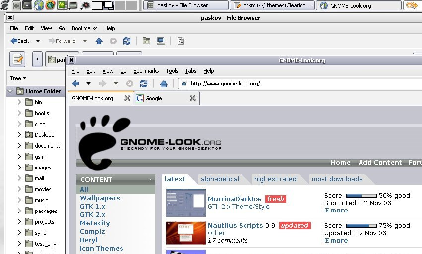 Clearlooks-XPSilver screenshot 1