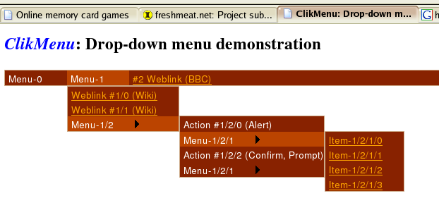 ClikMenu screenshot 1