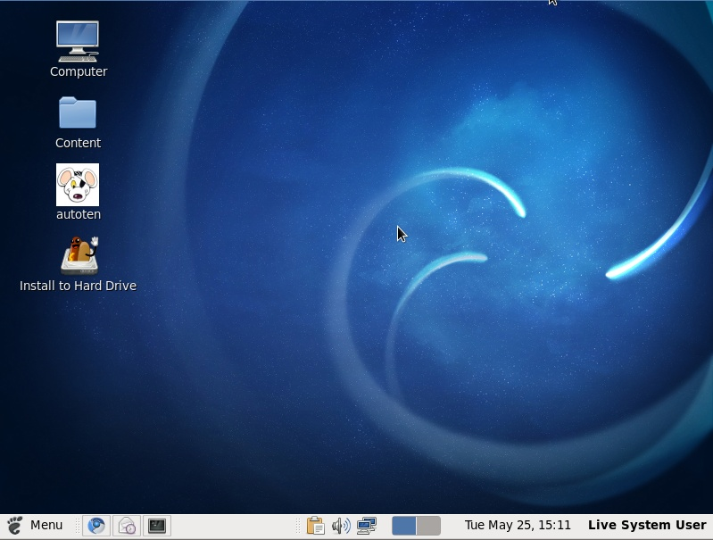 Fusion Linux screenshot 1