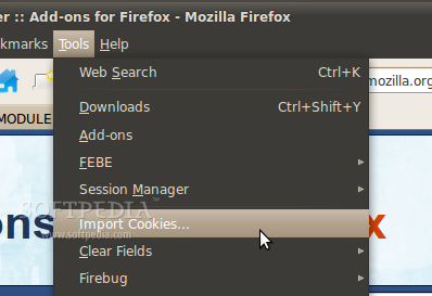 Cookie Importer for Firefox screenshot 1