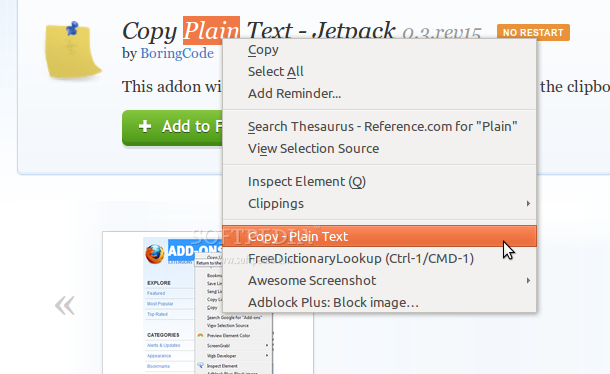 Copy Plain Text - Jetpack screenshot 1