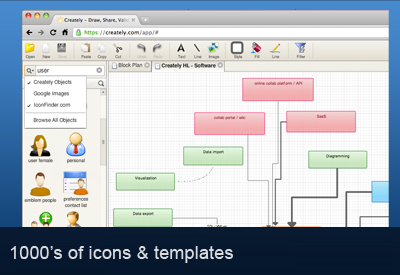 Creately - Online Diagramming screenshot 1