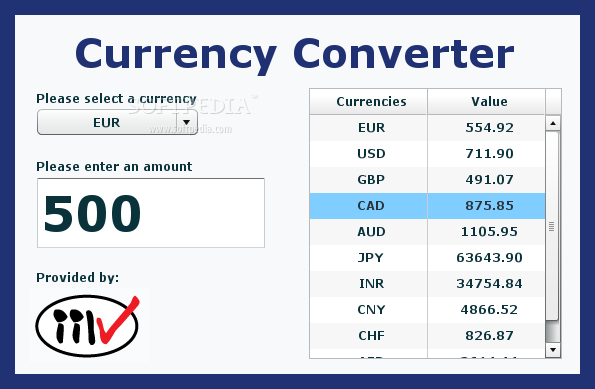 2 Screenshots Currency Converter