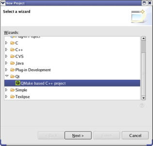 Eclipse plugin for Qt screenshot 1