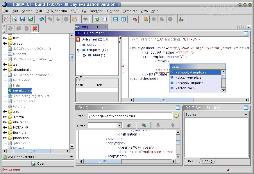 EditiX screenshot 1