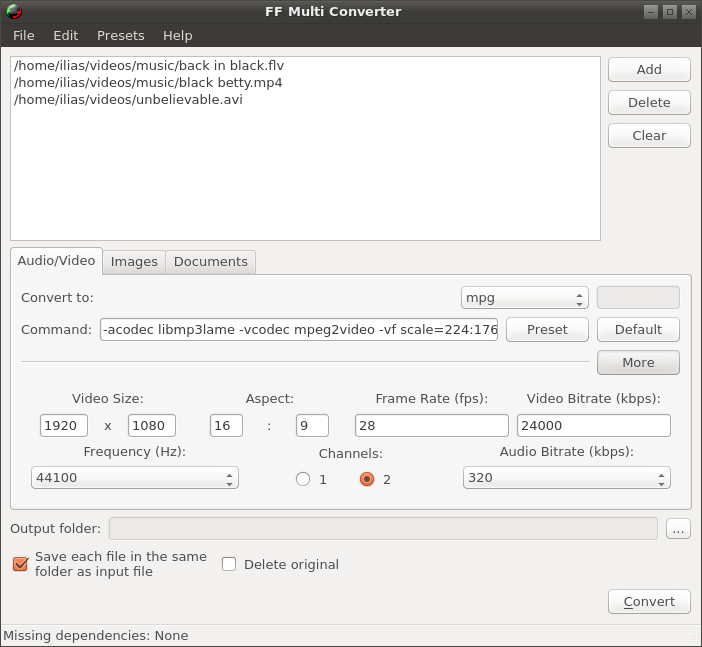 ff-multiconverter, multimedia, audio, video, linux, ubuntu