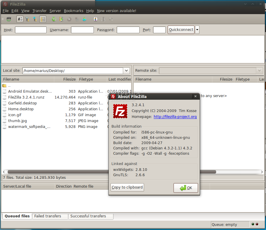 FileZilla Portable screenshot 1
