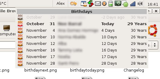 GBirthday screenshot 1