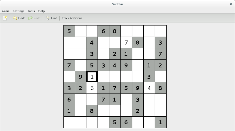 GNOME Sudoku screenshot 1