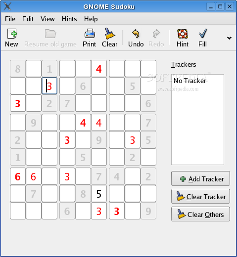 GNOME Sudoku screenshot 2