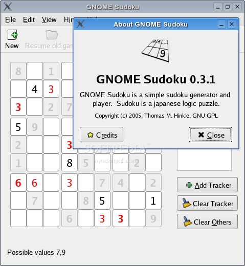 GNOME Sudoku screenshot 3