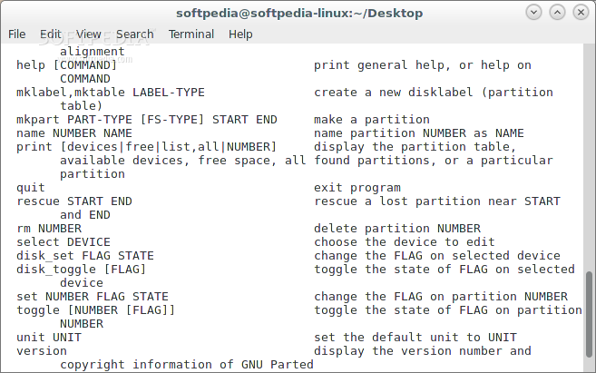 how to use gnu parted