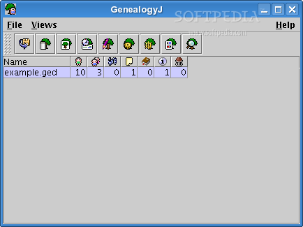 GenealogyJ screenshot 1