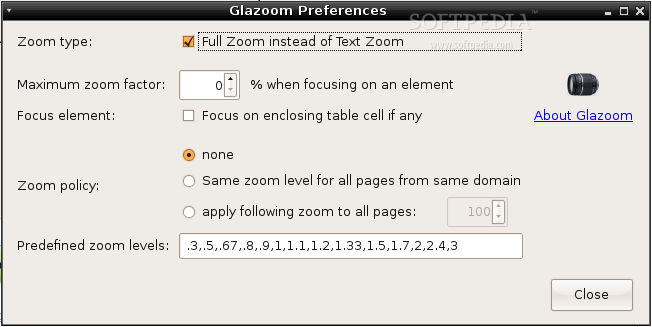 Glazoom screenshot 1