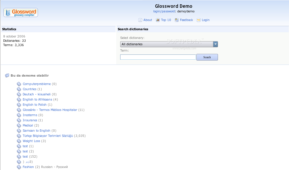 Glossword screenshot 1