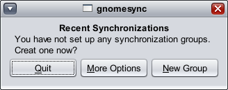 Gnome Synchronization Tool screenshot 2
