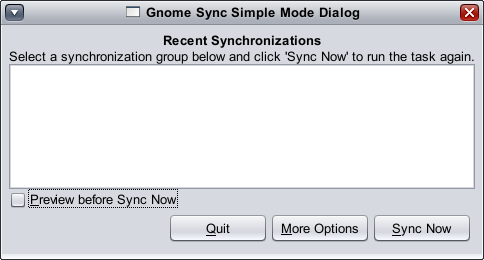 Gnome Synchronization Tool screenshot 3