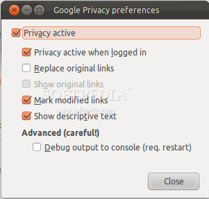 Google Privacy for Firefox screenshot 2