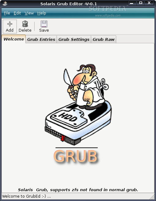 GrubEd screenshot 1