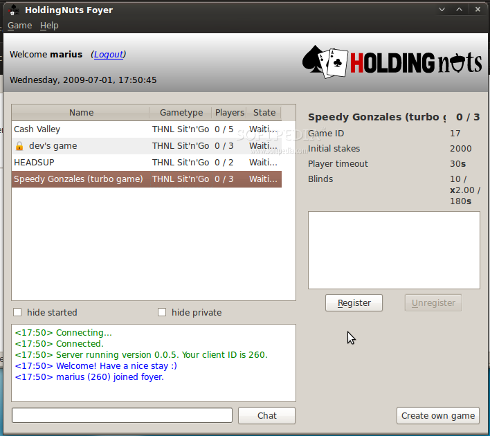 HoldingNuts screenshot 3
