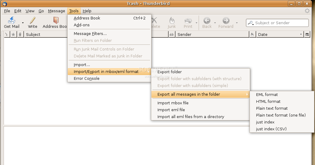 ImportExportTools screenshot 1